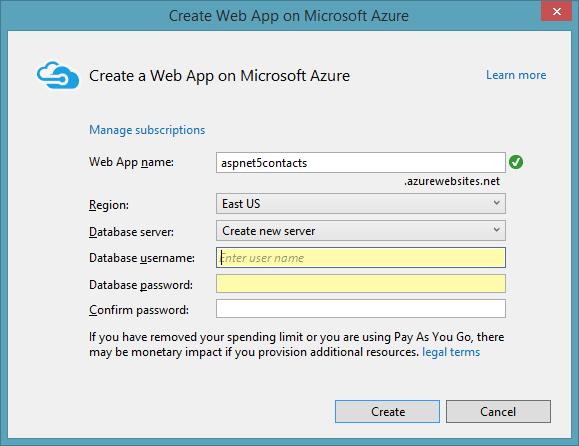 AzureCreateWebApp