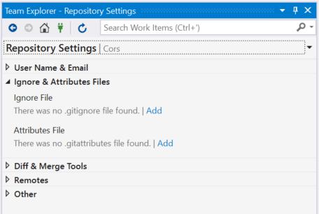 TeamExplorerRepositorySettings