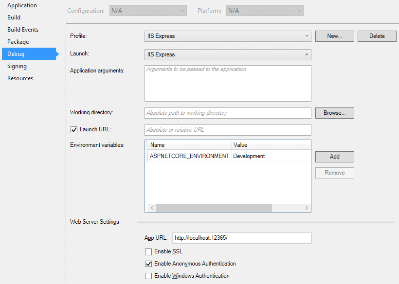 Visual Studio 2017 Error: The project doesn't know how to